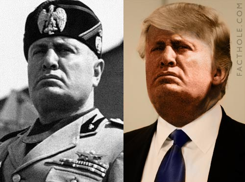 Benito Mussolini and Donald J. Trump